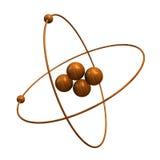 átomo del helio 3d en madera Fotos de archivo libres de regalías