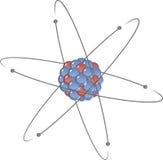 Átomo en modelo atómico planetario Imagen de archivo libre de regalías