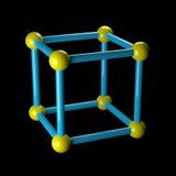 Átomo no preto. Fotos de Stock