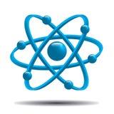 Átomo part.vector Imagens de Stock