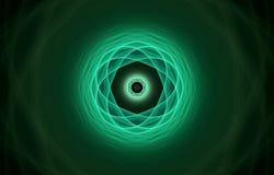 Átomo verde Imagens de Stock Royalty Free