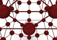 átomos 3d Fotografia de Stock