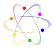 Átomos girando de LGBT ilustração stock
