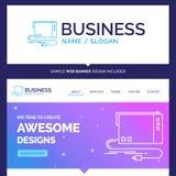Áudio bonito da marca do conceito do negócio, cartão, externo, int ilustração royalty free