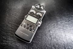 Áudio digital olá! fi do registrador fotos de stock