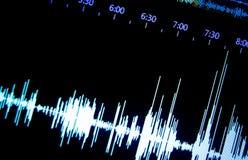 Áudio do estúdio de gravação sonora imagens de stock