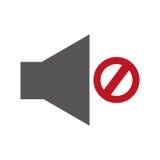 Áudio fora do botão do menu Fotos de Stock