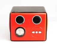 Áudio vermelho da caixa Foto de Stock Royalty Free