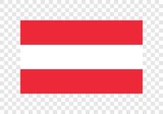 Áustria - bandeira nacional ilustração royalty free
