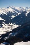 Áustria - caminhando nos cumes do heler do ¼ de Kitzbà Fotos de Stock Royalty Free