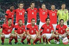 Áustria contra Alemanha Fotografia de Stock Royalty Free