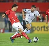 Áustria contra Alemanha Imagens de Stock