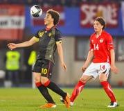 Áustria contra Bélgica fotografia de stock royalty free