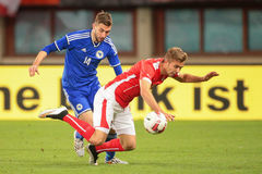 Áustria contra Bélgica Bósnia-Herzegowina Foto de Stock