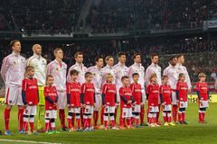 Áustria contra Bélgica uruguai fotos de stock