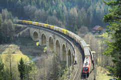 Áustria, estrada de ferro Imagem de Stock Royalty Free