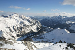 Áustria - montanhas nevado Fotos de Stock Royalty Free