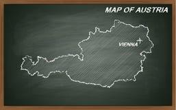 Áustria no quadro-negro Fotografia de Stock Royalty Free