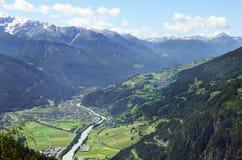 Áustria, Tirol, vale da pensão fotos de stock royalty free