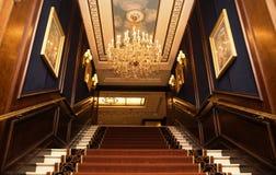 Áustria, Viena 19 de fevereiro de 2014: Viena intercontinental Entrada do hotel fotos de stock