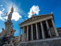 Áustria, Viena, o parlamento imagem de stock