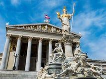 Áustria, Viena, o parlamento foto de stock royalty free