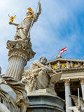 Áustria, Viena, o parlamento Imagens de Stock Royalty Free