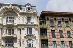 Áustria, Viena, wien casas de fileira Imagens de Stock Royalty Free