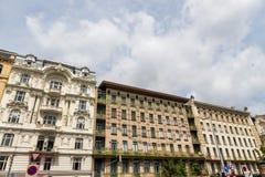 Áustria, Viena, wien casas de fileira imagem de stock