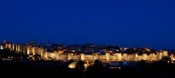 Ávila en la noche Fotos de archivo