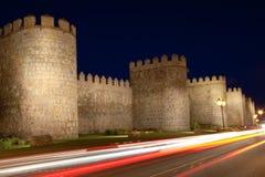 Ávila esta noche Imagen de archivo