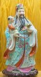 Ávila - la figura china de Famille Rose de la porcelana de Tao Lucky Gods Happiness - Lu Foto de archivo