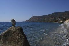 Ââcliffs de mer dans le sud de l'Italie Photos stock