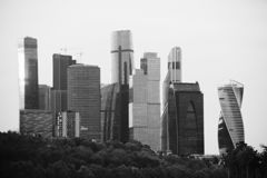 "€žMoskwa City"" Moskauer Internationales Geschäftszentrum стоковое изображение"