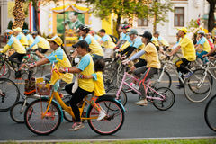 """Bike for Dad"" Thailand's cycling celebration for His Majesty the King. Stock Image"