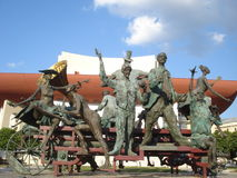 �Caragealiana� statuary group in front of National Theatre in Bucharest Royalty Free Stock Images