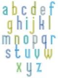 �Echo� typeset, striped retro 70�s style font. Stock Photo
