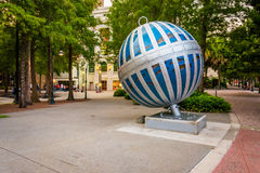 The �Global Convergence art installation, located in downtown Orlando, Florida Stock Photo