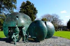 """""""Karangahape Rocks†雕塑在Symonds街公园在Auck 库存图片"""