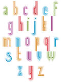 �Outer Echo� typeset, striped retro 70�s style font. Royalty Free Stock Images