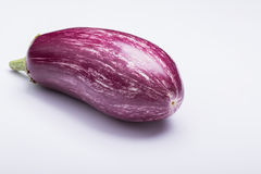 ‌riped eggplant. Striped eggplant on white background Royalty Free Stock Photography