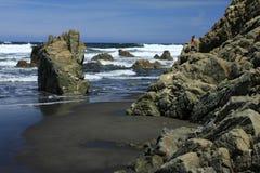 """The Quebrantos"" beach in San Juan de la Arena Stock Photography"