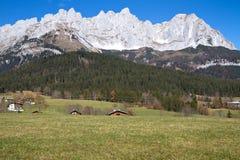 """""""Zahmer Kaiser"""" mountains in Tyrol, Austria Stock Photos"""