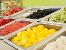 �Frozen Yogurt Toppings Royalty Free Stock Images