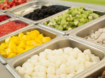 ‎Frozen Yogurt Toppings Stock Photos