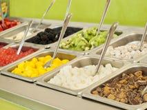 Frozen Yogurt Toppings Royalty Free Stock Image