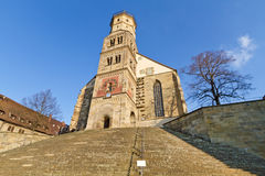 """Michaelskirche"" church in Schwaebisch Hall Royalty Free Stock Photos"