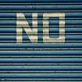 """""""No"""" in den weißen Buchstaben Stockfotografie"""