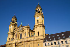 """Theatinerkirche"" church in Munich Stock Photos"