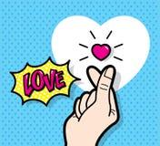 'Finger Heart' gesture Stock Photos